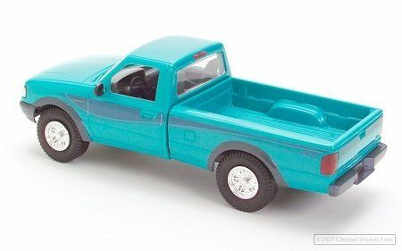 ERTL 94 Ford Ranger Green by Closeoutservices. $9.99. Officially licensed ERTL  #6291, by Ford Motor Company. ERTL toys, plastic model of Ford Ranger. Color: Calypso Green. Collector's item recommended for ages 8 and over. Car is packaged in white box with ERTL labels, part# and identification. 1/25th scale.
