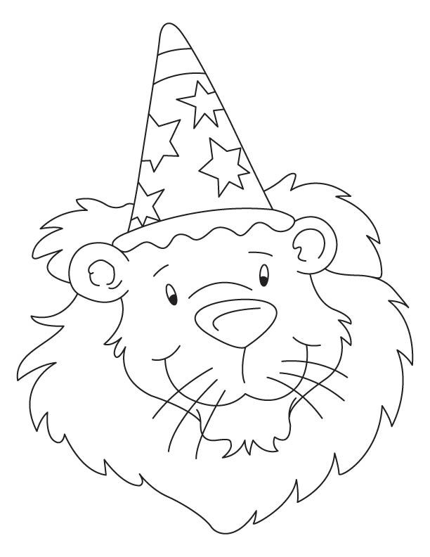 bholu the birthday lion coloring page coloring pages pinterest