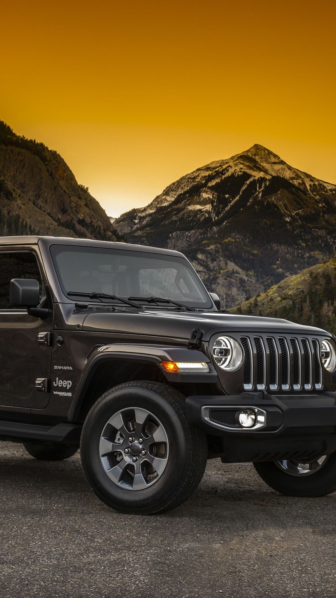 Jeep Wrangler Sprots Utility Vehicle Black 1080x1920 Wallpaper