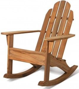 Arthur Lauer Teak Adirondack Rocking Chair With Images Rocking