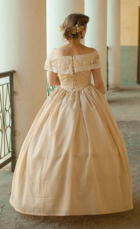 1860s Ball Gown, American Civil War Dress, North & South
