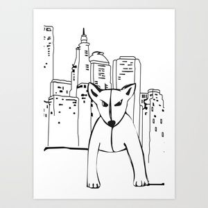 Beema & The City Art Print by Ibbanez