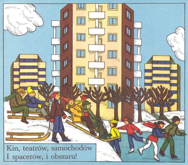Illustration by Danuta Boniuk-Przymanowska, Author: Julian Tuwim, Title: Warszawa