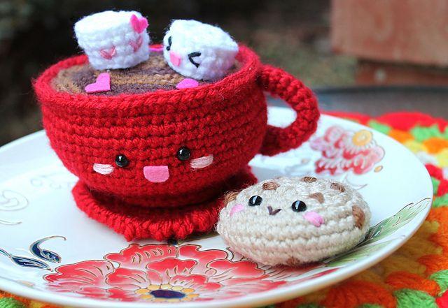 Snoopy Easy Amigurumi Pattern : Ravelry: hot chocolate amigurumi pattern by amigurumi food