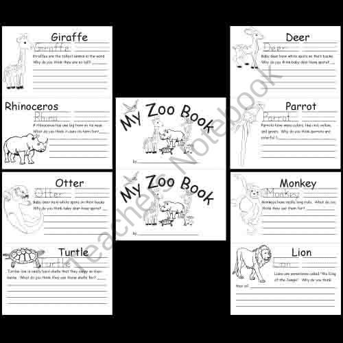 kindergarten zoo animal worksheets product from. Black Bedroom Furniture Sets. Home Design Ideas