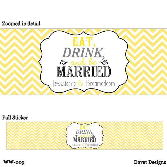 water bottle labels weddings