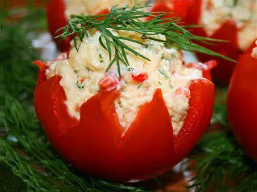 Silkės Salotomis įdarytas Pomidoras Maistas Pinterest Fish