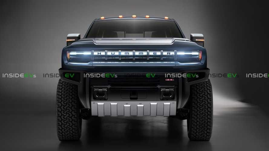 Hummer Electric Pickup Truck Looks Big Rugged In Exclusive