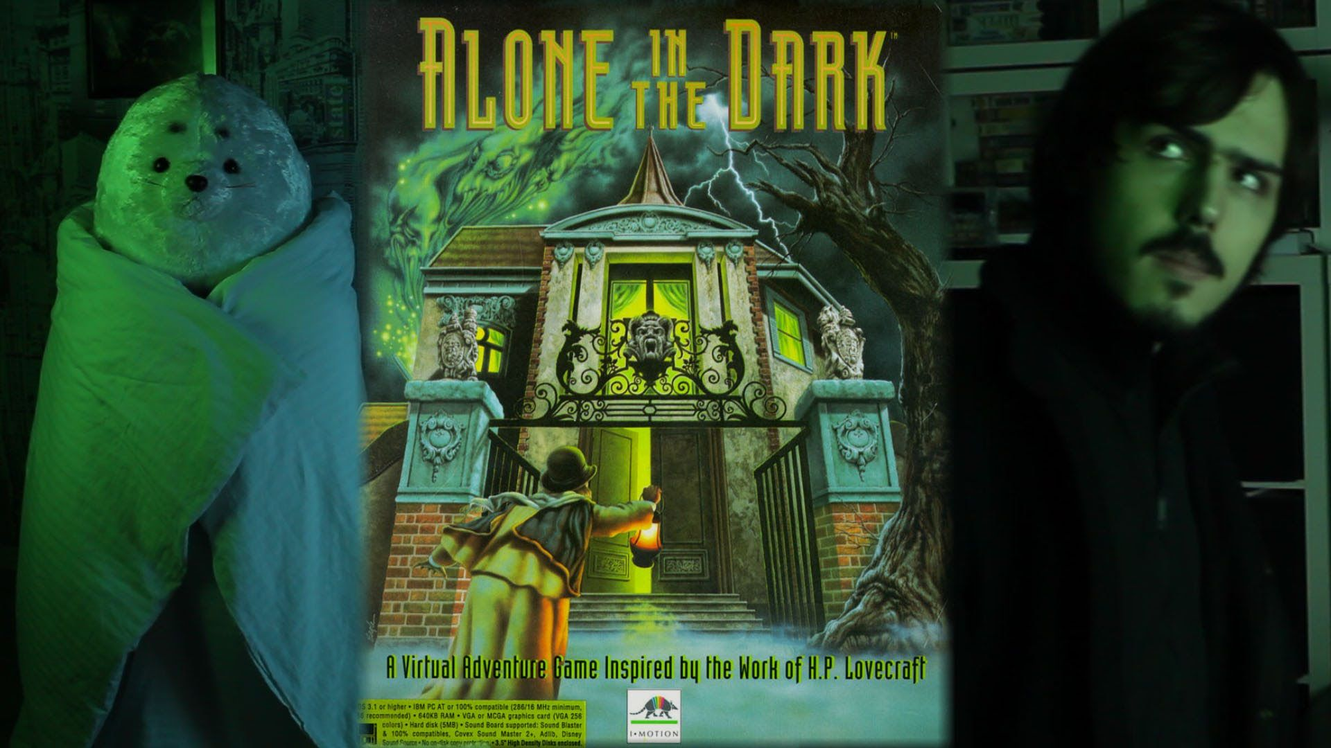 Alone In The Dark 1992 Dos Game Review Georggreat Alone In The Dark Dark Wallpaper Survival Horror Game