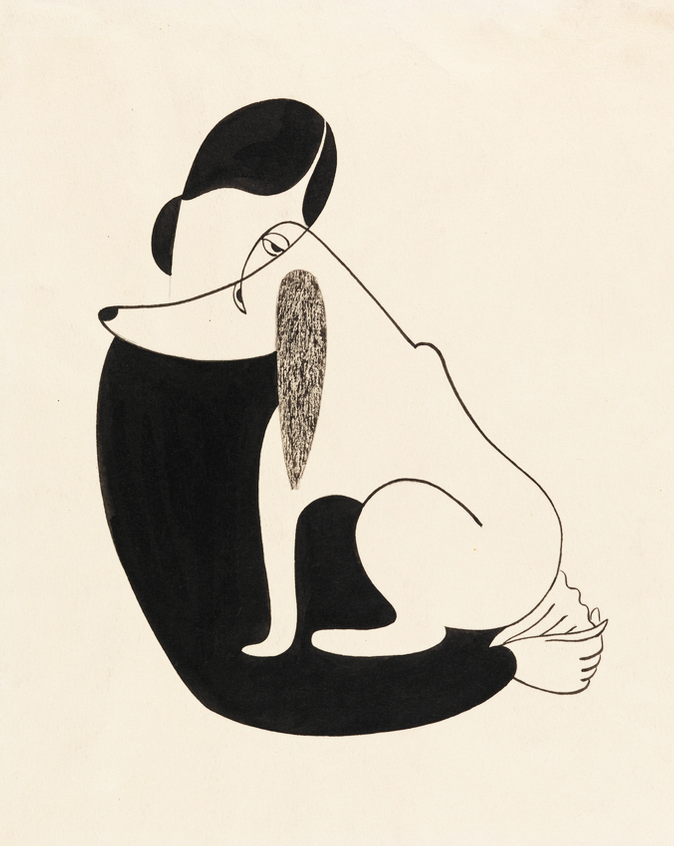 By Christina Malman, 1935, Woman and a Dog.