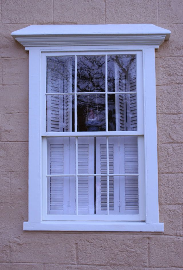 COLONIAL PLANK FRAME WINDOWS. Exterior ...