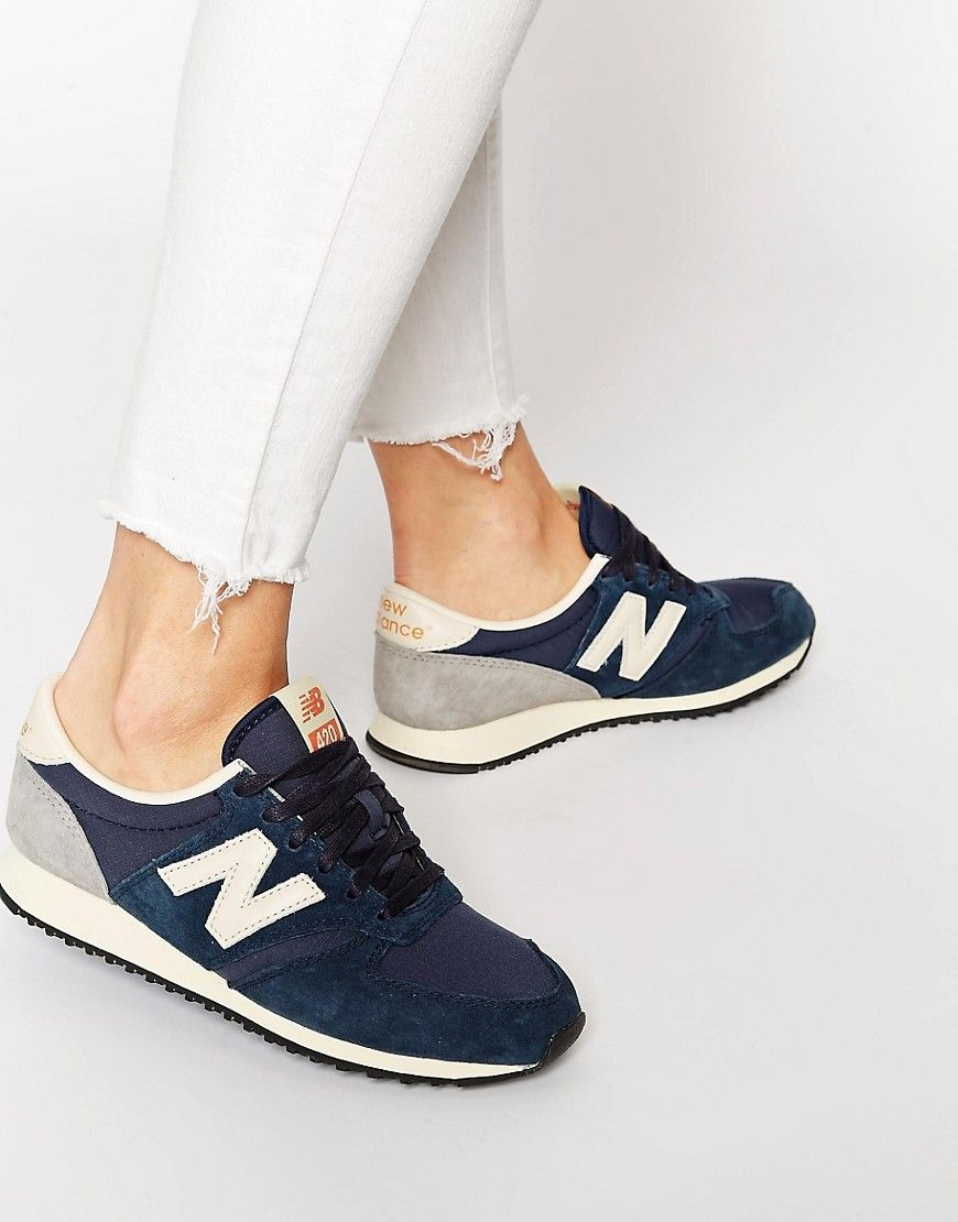 6069e51eddad3 New Balance 420 Navy Vintage Sneakers | Baskets in 2019 | New ...