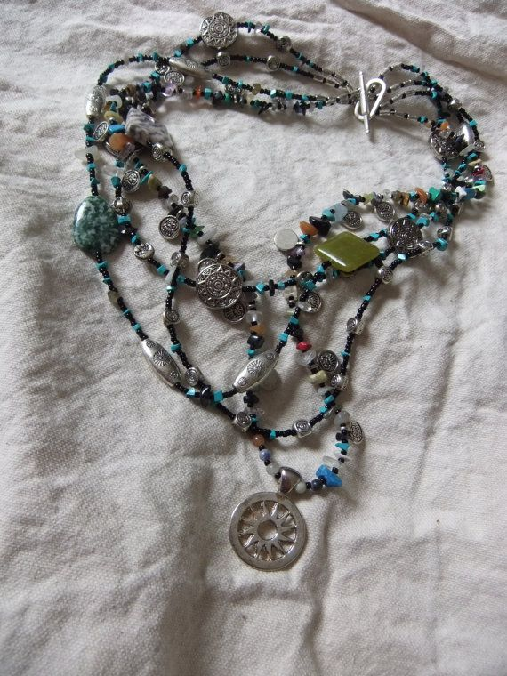 Mayan Calendar Necklace by centerofbalance on Etsy, $35.00