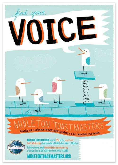 midleton toastmasters poster design illustration promotional