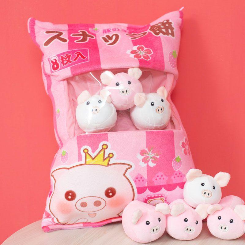 A bag of kawaii pink bunny japanese dolls kawaii