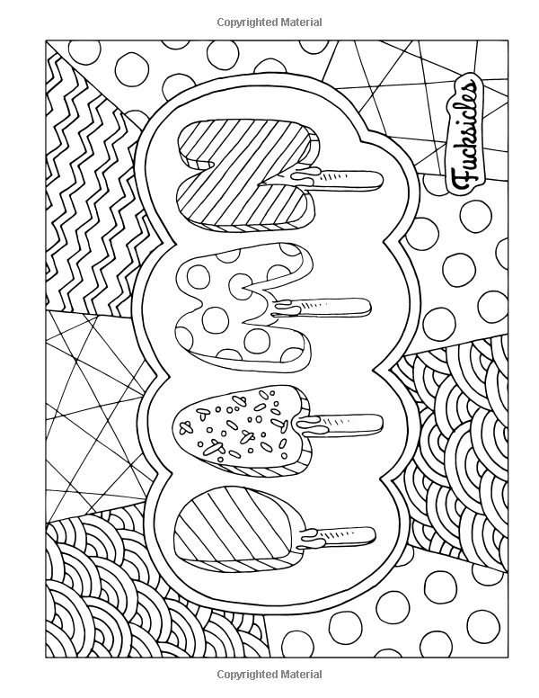 Swear Word Coloring Book Fucksicles For Fans Of Adult Books Mandala