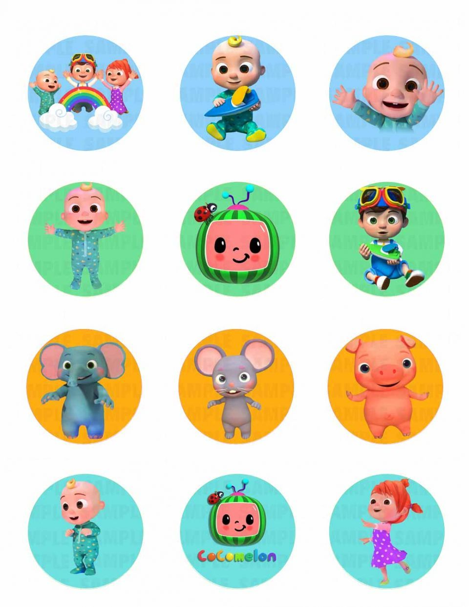 Cocomelon Edible Image Cupcake Cookie Topper Baby Boy 1st Birthday Party 2nd Birthday Party For Boys Baby Birthday Party Theme