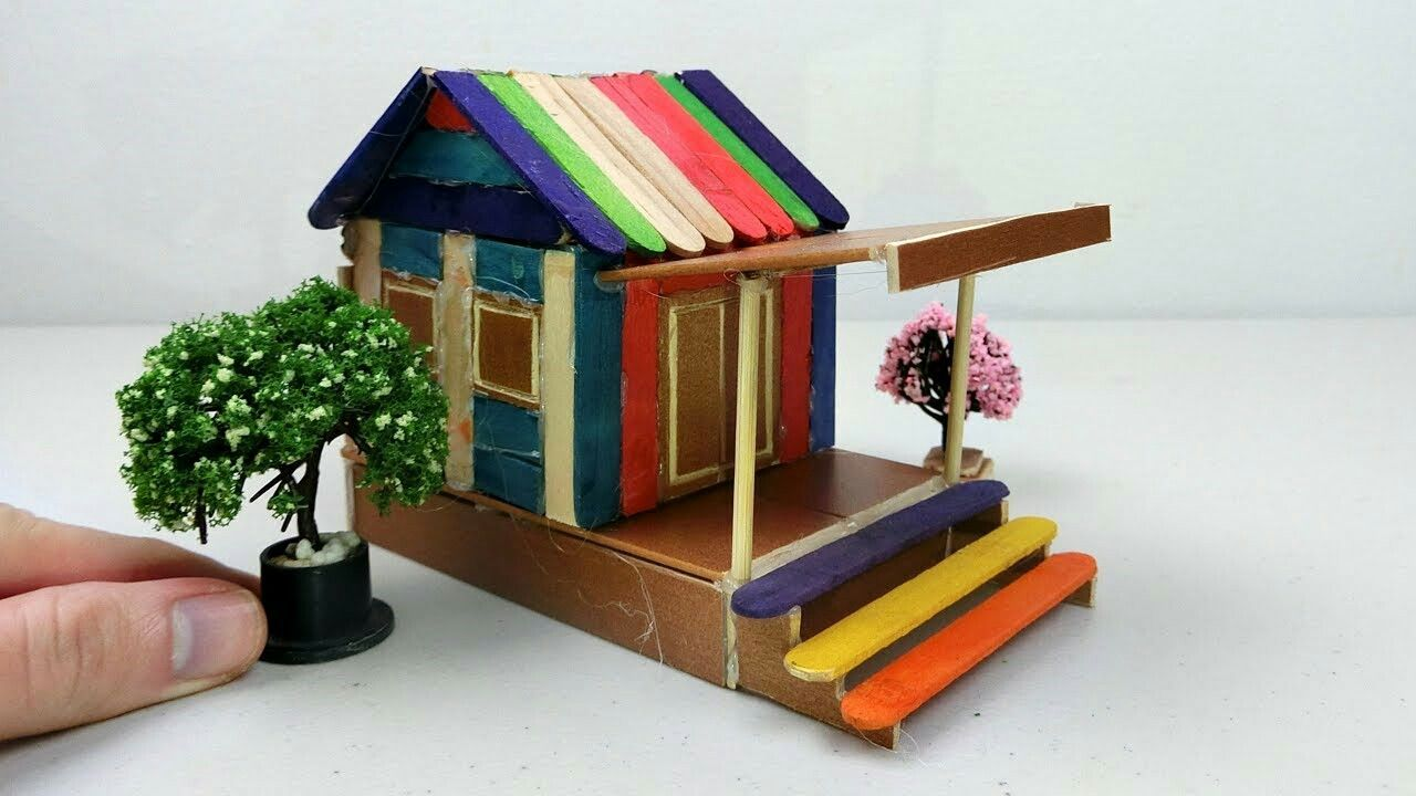How To Make Popsicle Stick House Easy Craft Ideas