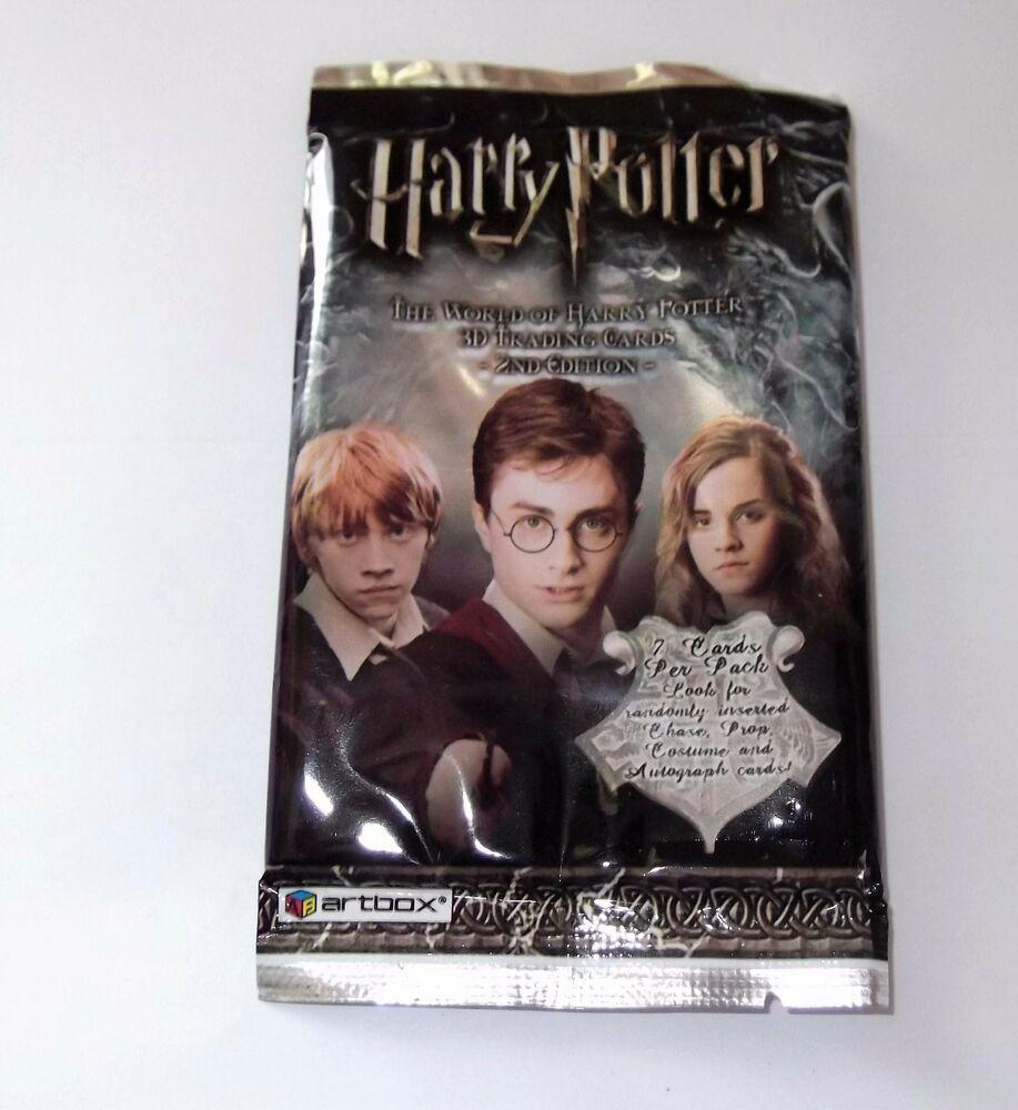 Harry potter hogwarts lenticular 3d sealed trading cards