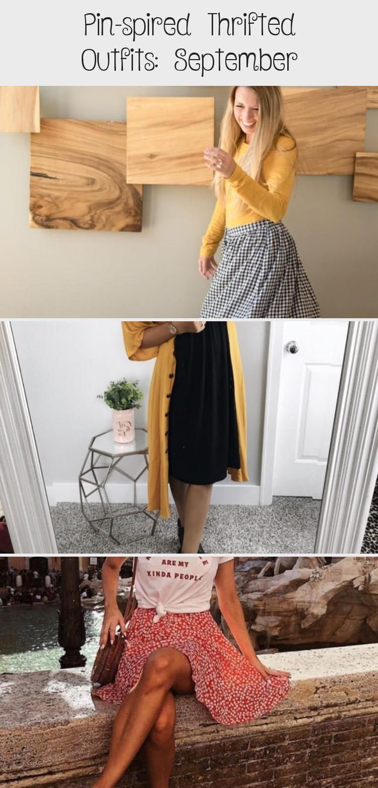 Pin-spired Thrifted Outfits: September - Women #churchoutfitfall
