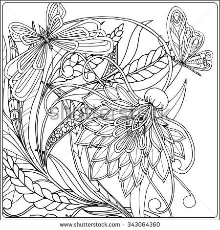 Coloring book for adult and older children  Coloring page with decorative vintage flowers and decorative butterflies  Outline hand drawn  is part of Coloring books - Find Coloring book for adult and older children  Coloring page with decorative vintage flowers and decorative butterflies  Outline hand drawn stock vectors and royalty free photos in HD  Explore millions of stock photos, images, illustrations, and vectors in the Shutterstock creative collection  1000s of new pictures added daily