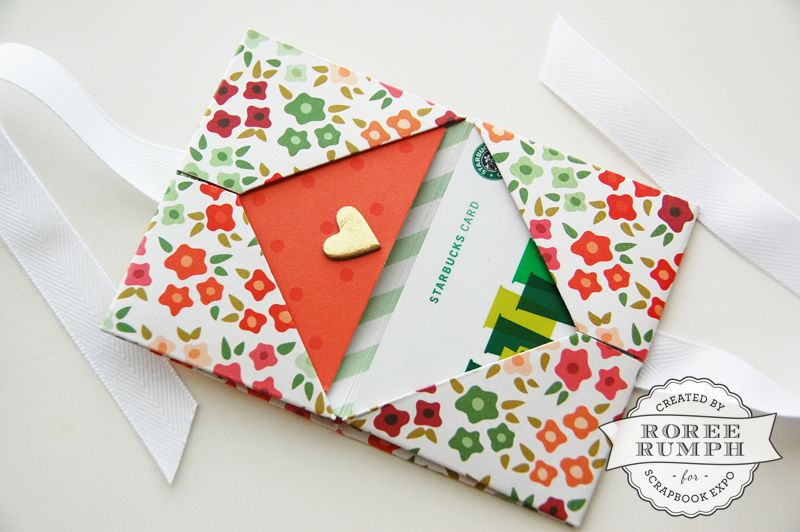 Origami Gift Card Holder Tutorial By Roree Rumph For Stamp Scrapbook Expo