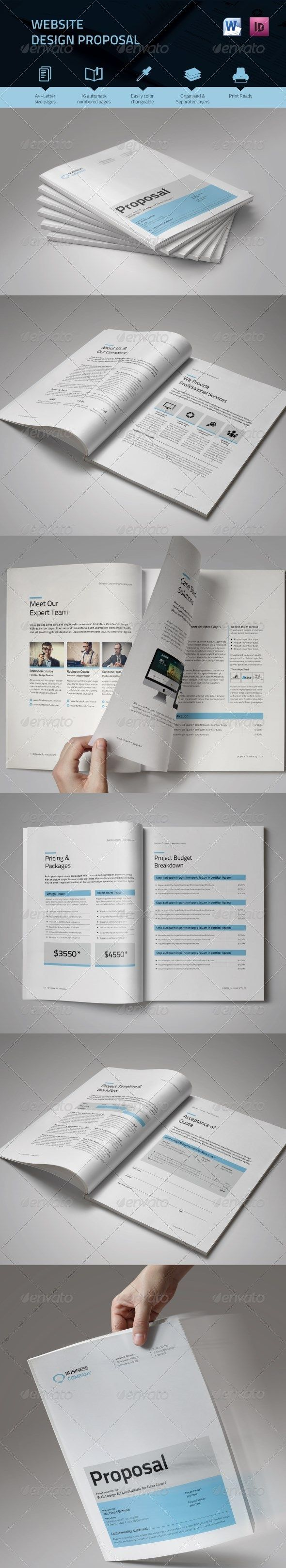 Web Design Proposal  Proposal Templates Proposals And Brochure