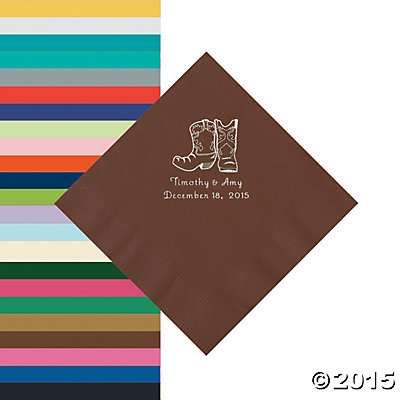 Personalized Cowboy Boots Napkins - Oriental Trading