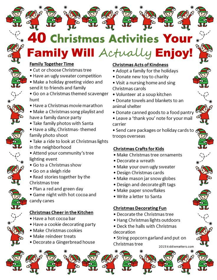 40 Christmas Activities Your Family Will Actually Enjoy -   18 holiday Activities list ideas