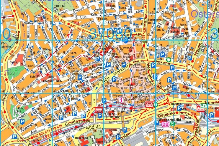 Wuppertal tourist map | Maps | Pinterest | Tourist map and City