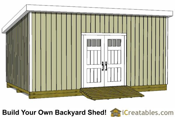 12x20 Lean To Shed Plans Door On Tall Wall Garden