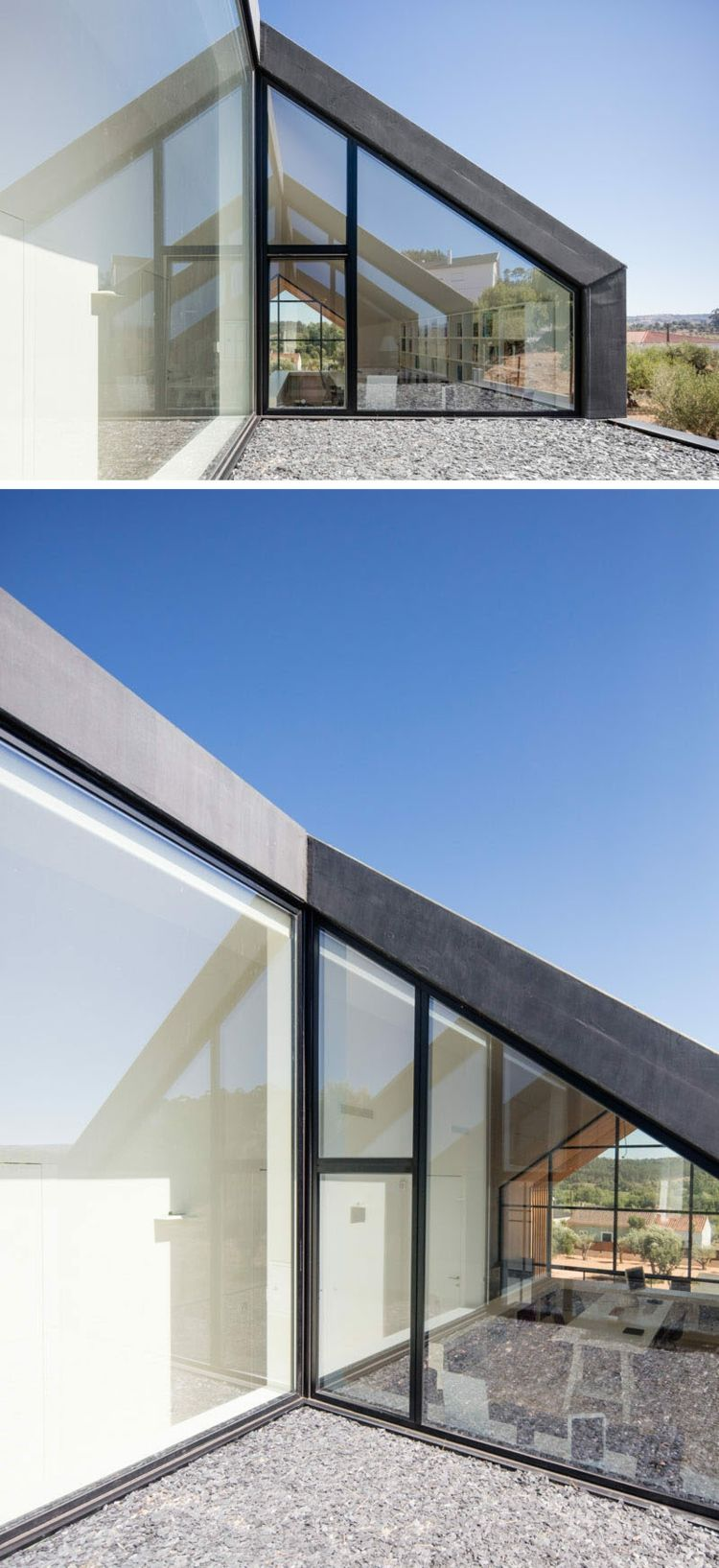 Faszinierend Fensterfront Sammlung Von Ourem Dreieckig Dachschräge Terasse