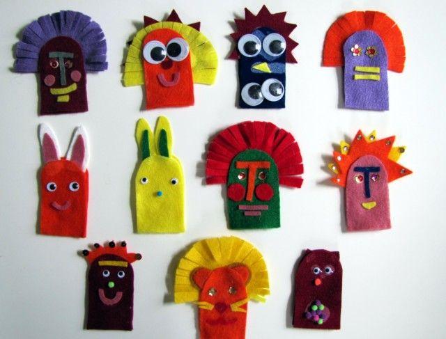 C mo hacer t teres de dedo con fieltro manualidades - Como hacer marionetas de mano ...