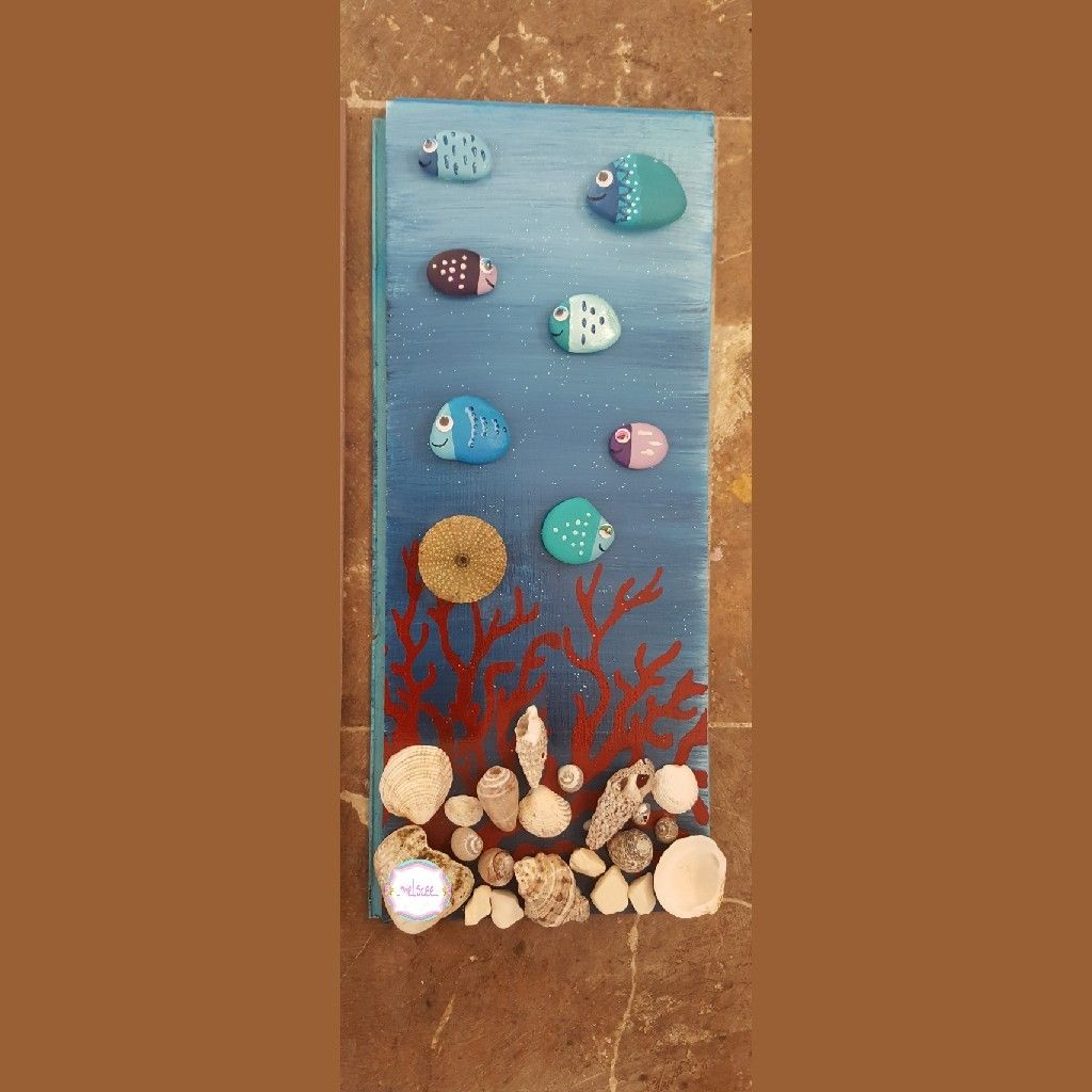 Tas Boyama Tablo Deniz Alti Tablolar