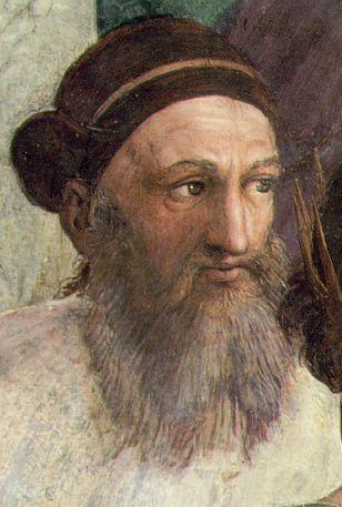 Zoroastre (detail from School of Athens), by Raffaello (1509-1511)