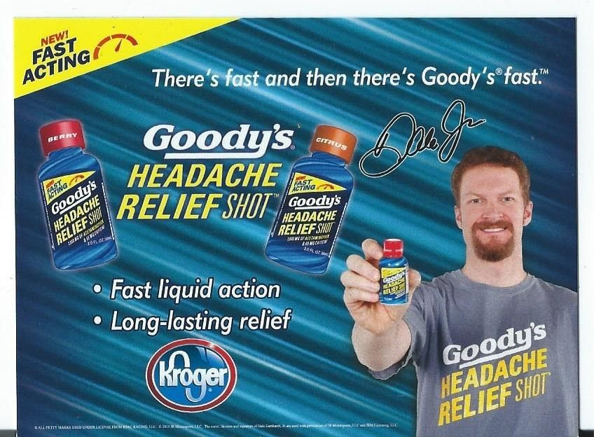 2013 DALE EARNHARDT JR. GOODY'S HEADACHE RELIEF COUPON