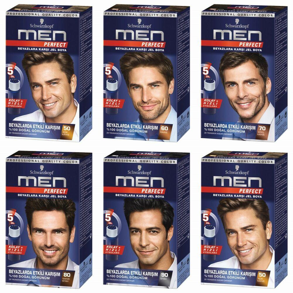 Schwarzkopf Men Perfect Professional Hair Color Gel Anti Grey 5