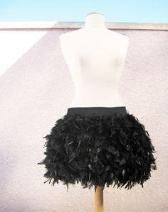 DIY Feather Skirt Using Boas.