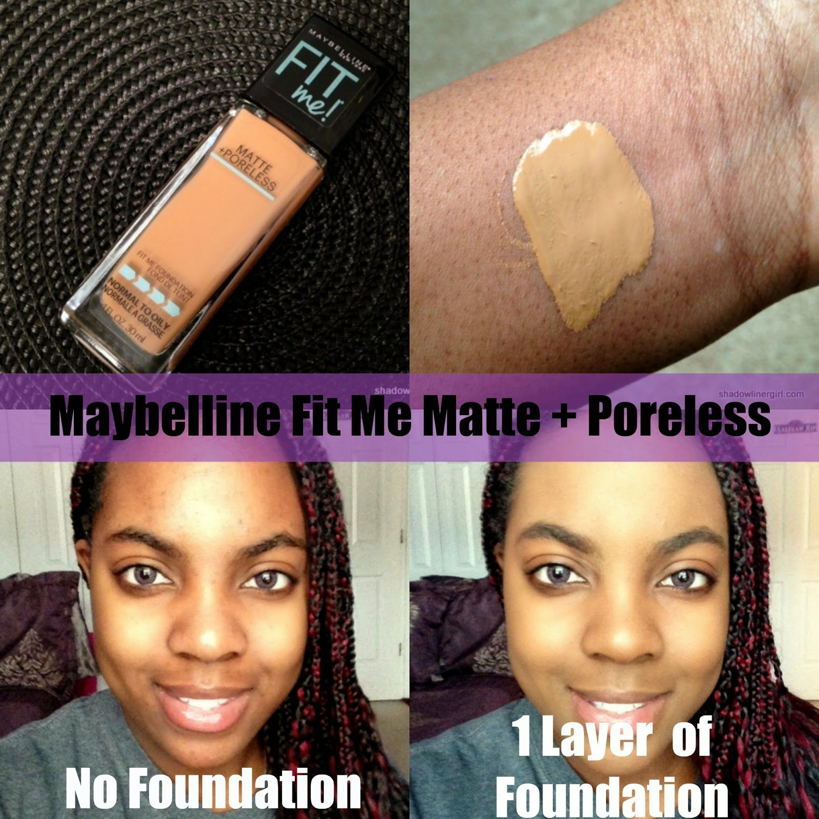 Maybelline Fit Me Matte Poreless Foundation Review Hair And Airyrooms 30ml Dewy