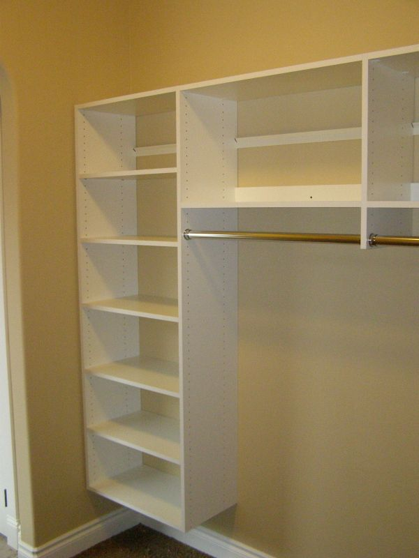 Closet Shelves Basic White Closet Storage Shelves And