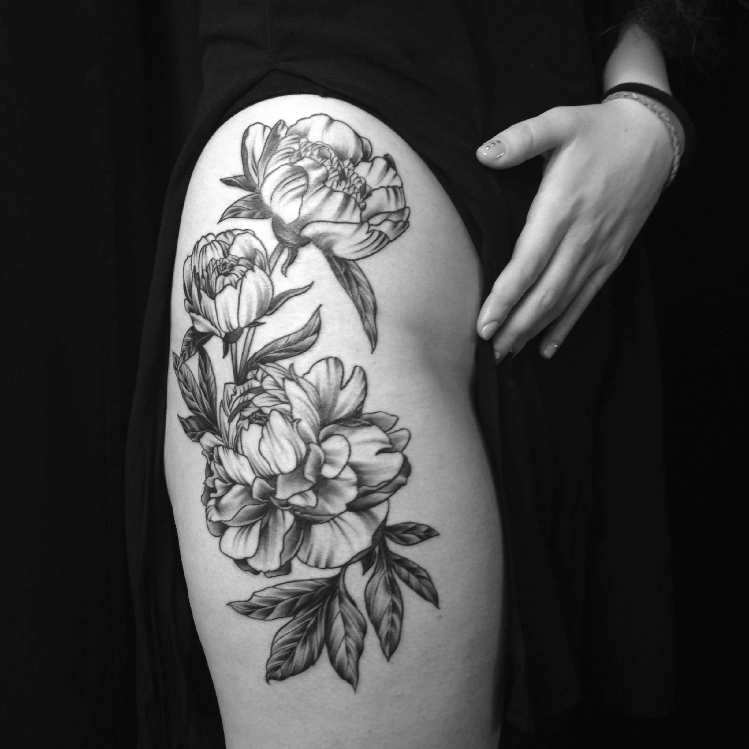 Tattoo Berlin Prenzlauer Berg Graphic Peony Tattoo By Blanka Selfmade Tattoo Berlin Tattoo
