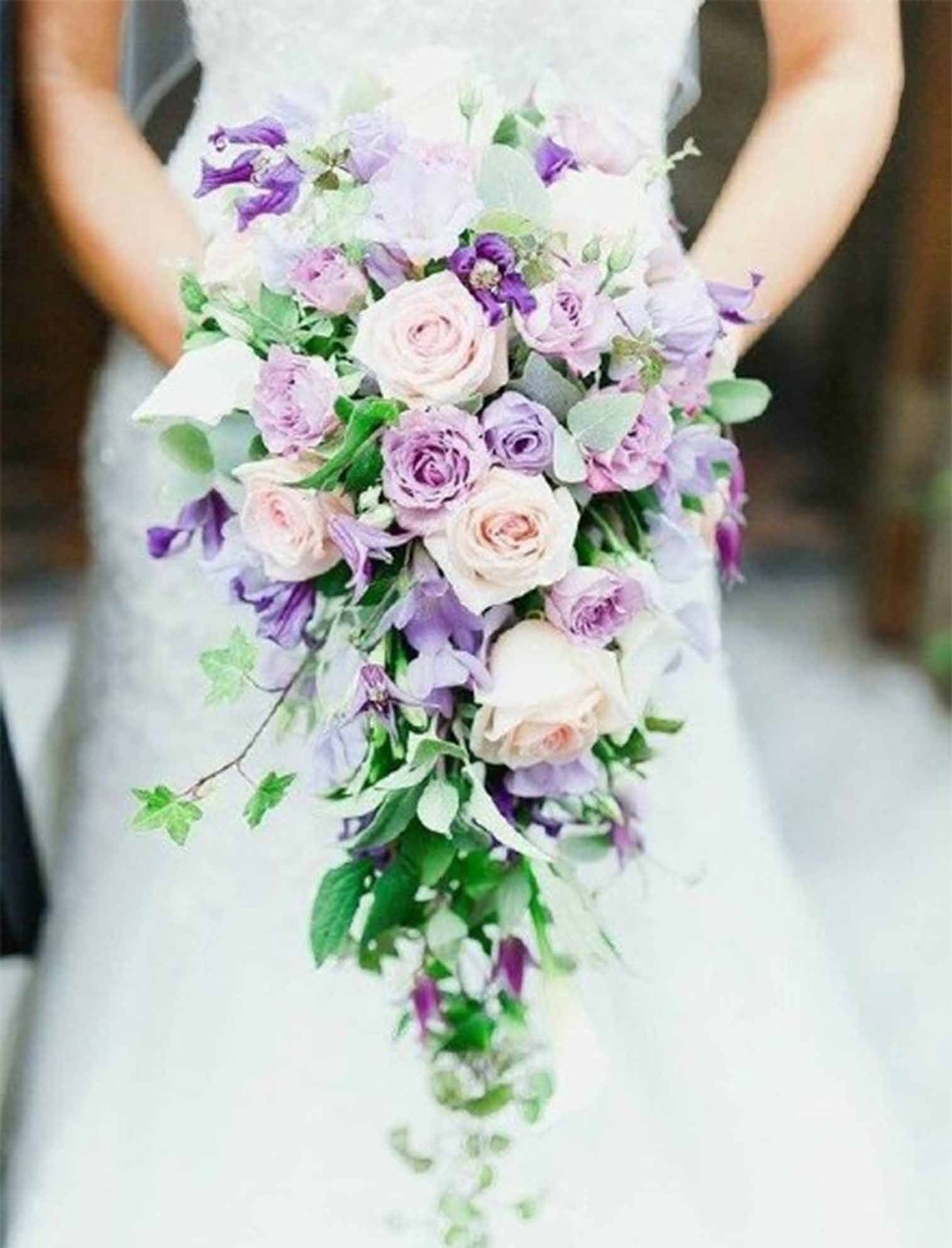 Purple And Pink Wedding Bouquets Wedding Bouquet And Flowers