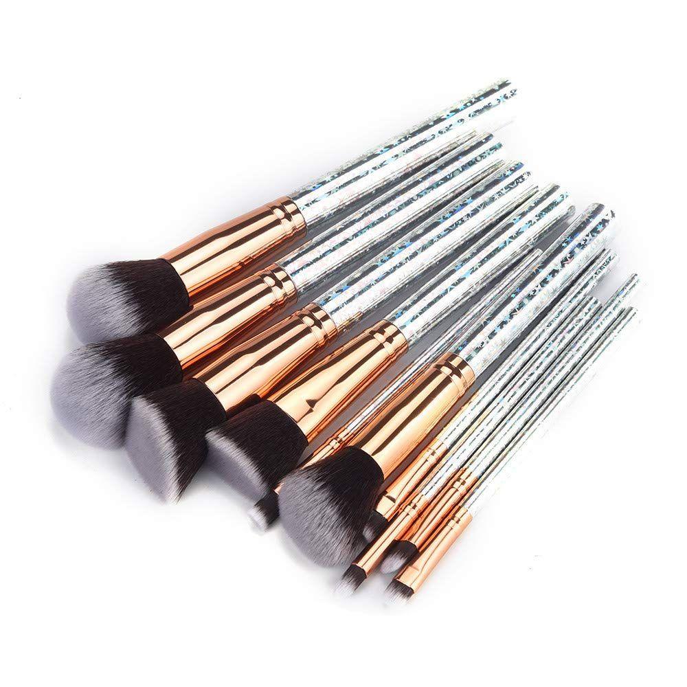 Fan Brush,Makeup Brush Set Vander 32,10 Pcs Diamonds