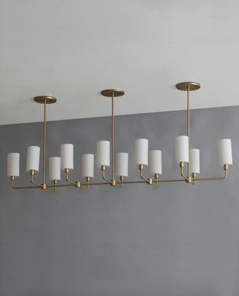 A beautiful modern chandelier its the linear suspended cylinder a beautiful modern chandelier its the linear suspended cylinder chandelier by bone simple design aloadofball Image collections