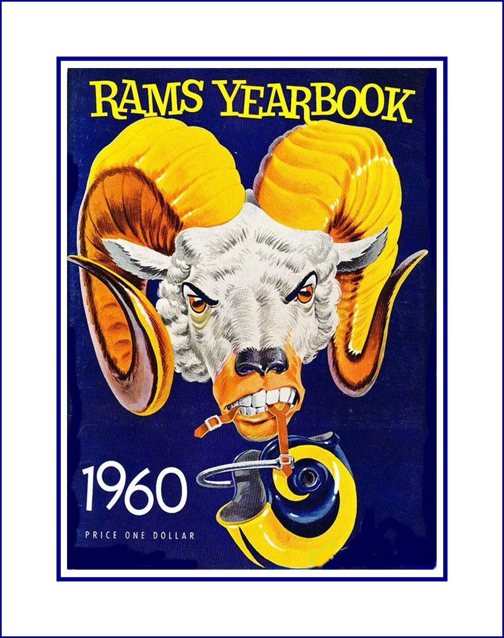 La rams 1960 yearbook cover art poster nfl football fan wall art la rams 1960 yearbook cover art poster nfl football fan wall art gift retro amipublicfo Images