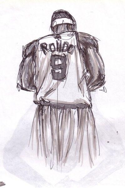 Rajon Rondo Currently Playing For Boston Celtics Nba Boston Celtics Basketball Drawings Basketball Art
