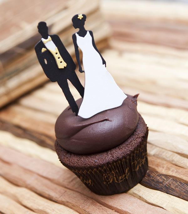 Bride & Groom Cupcake Pick by Ashley Cannon Newell for Papertrey Ink (December 2012)