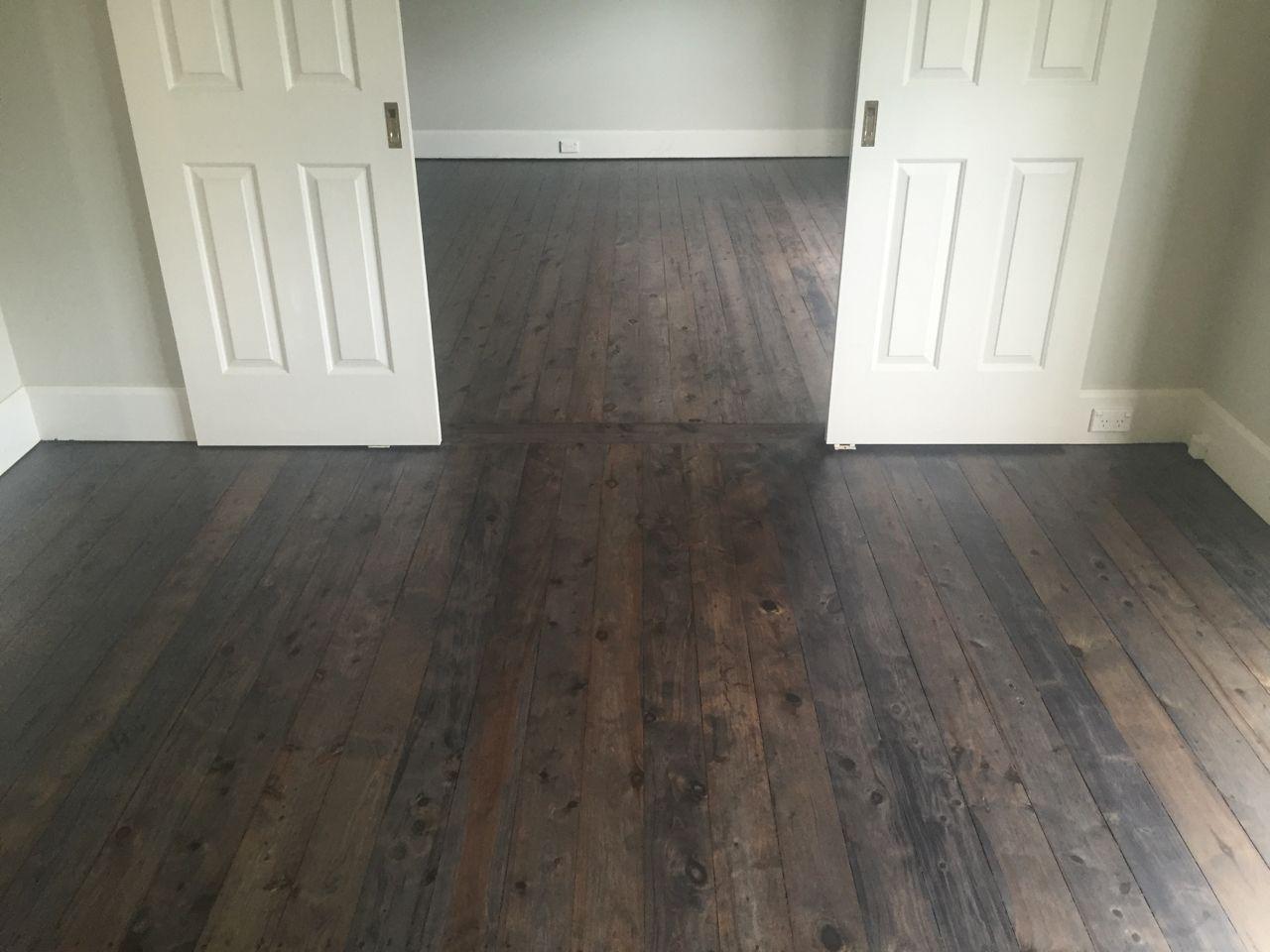 Custom Black Stain on Cypress Pine in 2020 Flooring