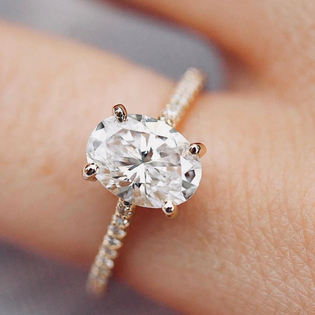 Beautiful oval diamond ring