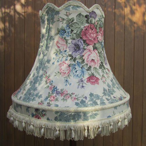Large Vintage Standard Lampshade Roses Vintage Lampshades Vintage Lighting Lampshades